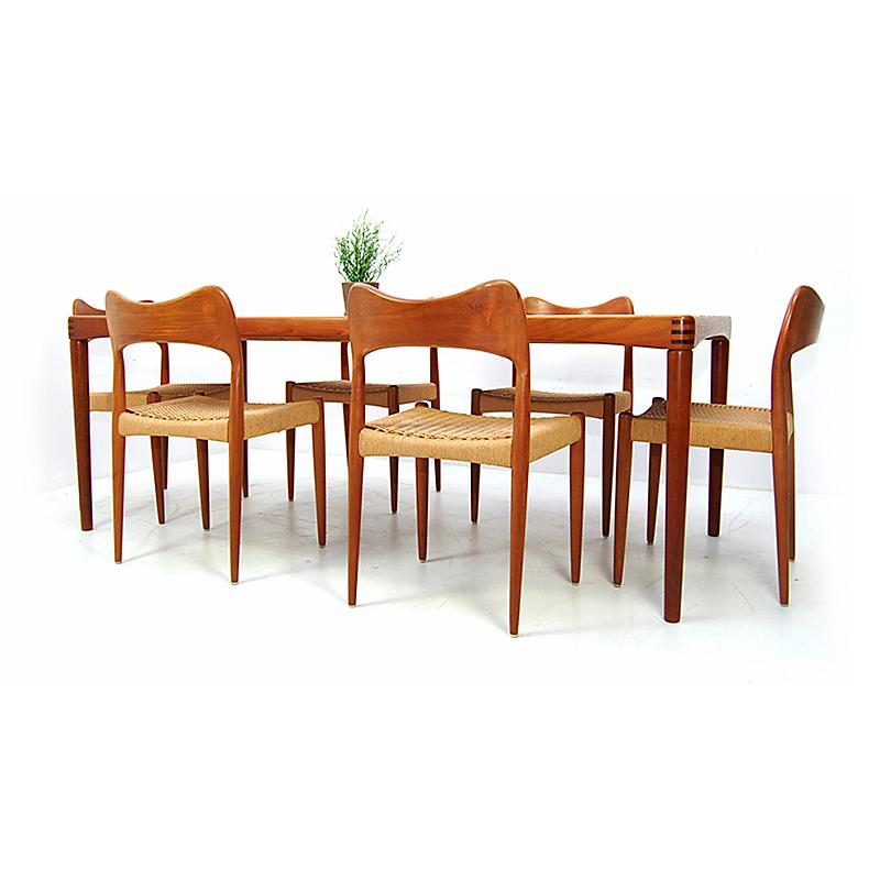 Juego de mesa y sillas escandinavas by h w klein nitelshop for Juego de mesa y sillas