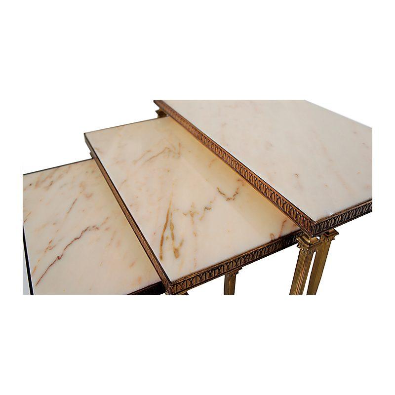 Mesas nido mármol Maison Jansen