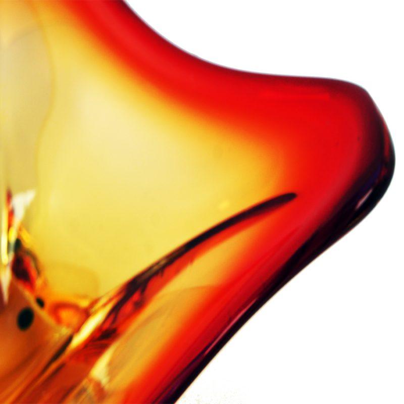 Centro cristal Murano rojo