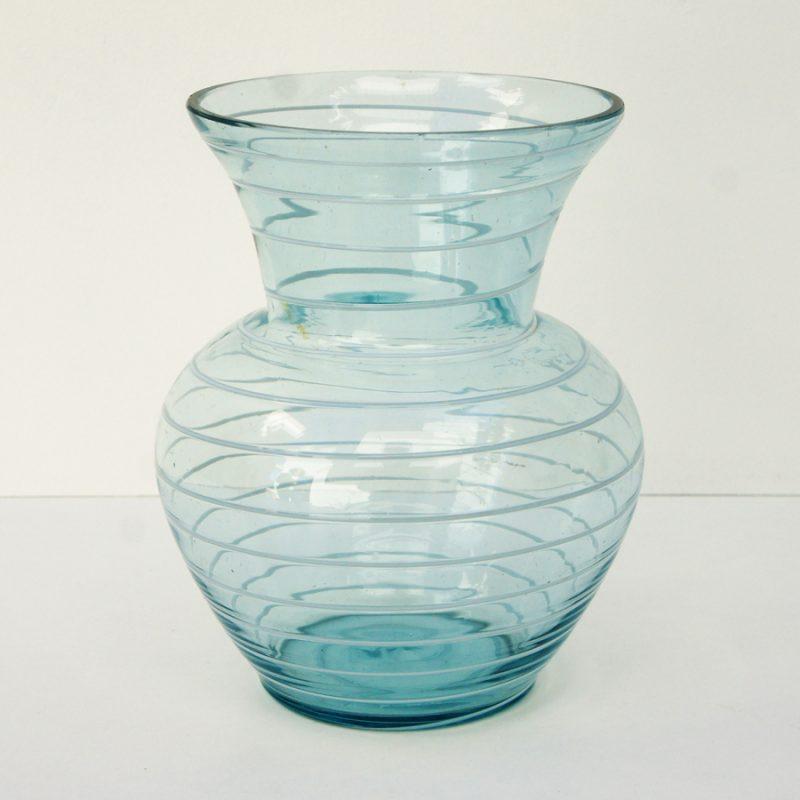 Jarrón cristal finlandés espiral