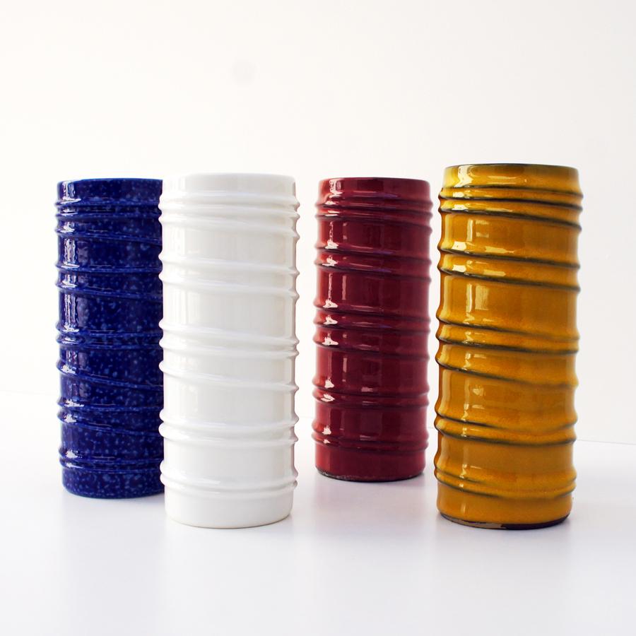 Juego de 4 jarrones de cer mica de colores melitta nitelshop - Colores de ceramica ...