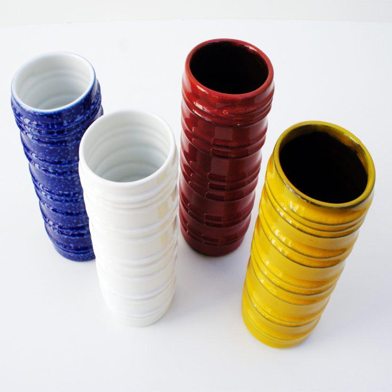 juego de 4 jarrones cerámica colores Melitta