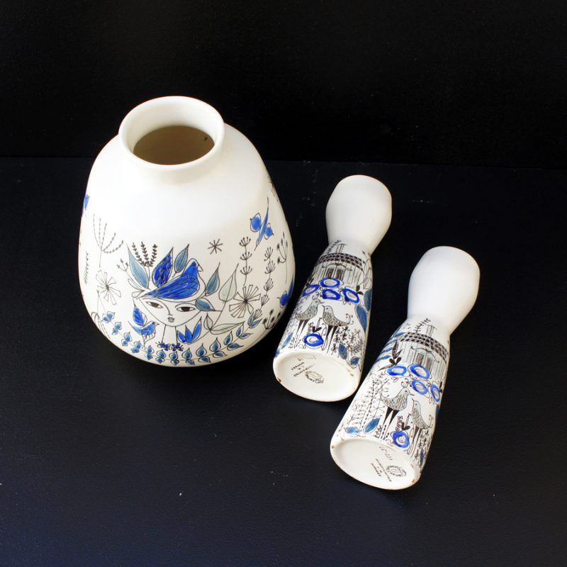 Conjunto de porcelanas pintadas a mano de Inger Waage