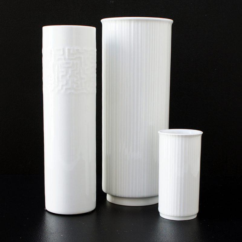 Conjunto jarrones alemanes porcelana Rosenthal