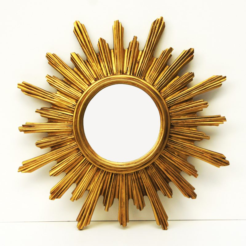 Espejo sol dorado tamaño XL de resina