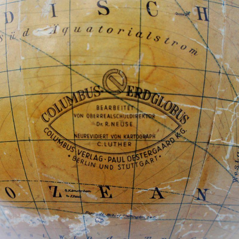 Globo terráqueo Columbus años 20