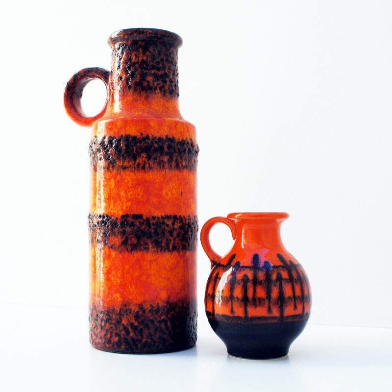 Jarrones alemanes fat lava naranja