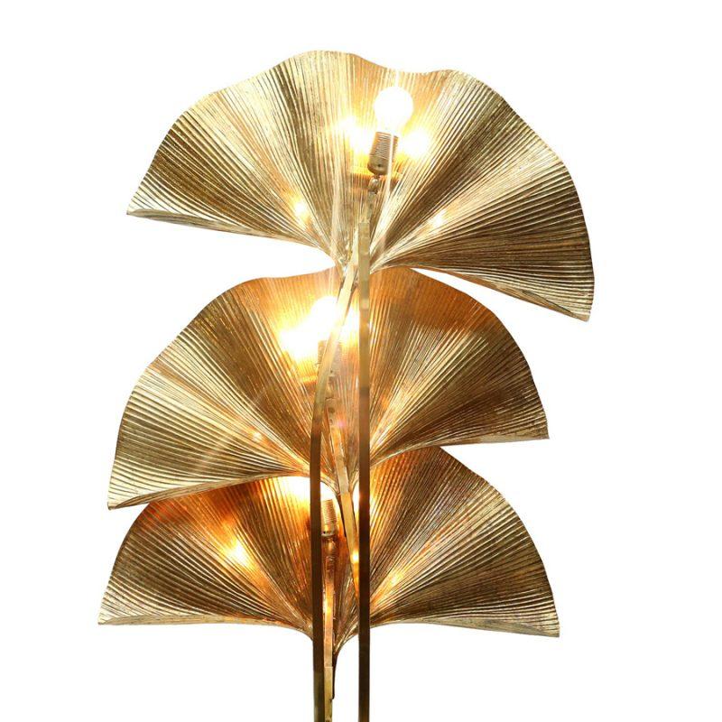 Lámpara Ginkgo de tres hojas diseño de Carlo Giorgi