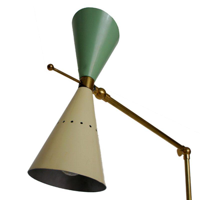 Lámpara Stilnovo años 50s diseño Angelo Lelli