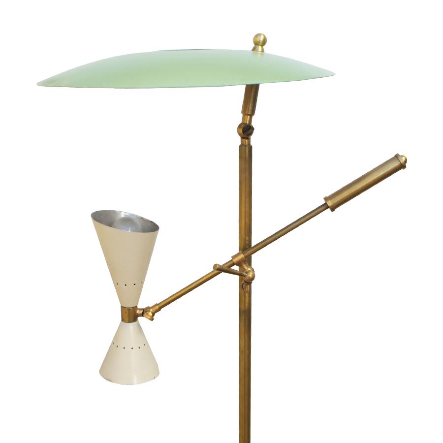 Italian Floor Lamp from Stilnovo, 1950s