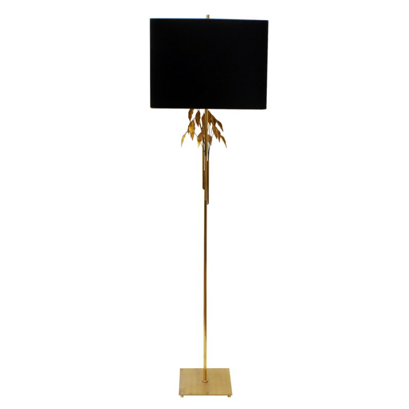 Gold Leaves Floor Lamp from Maison Charles, 1970s