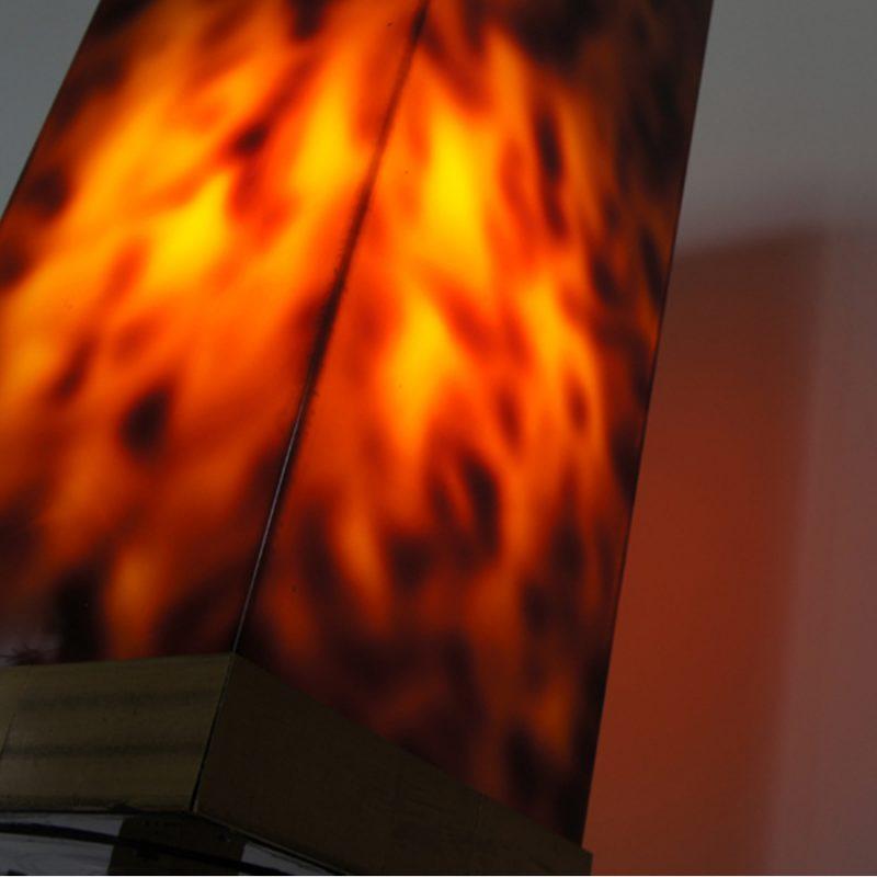 Lámpara diseño Will Rizzo para Lumica pantalla de carey