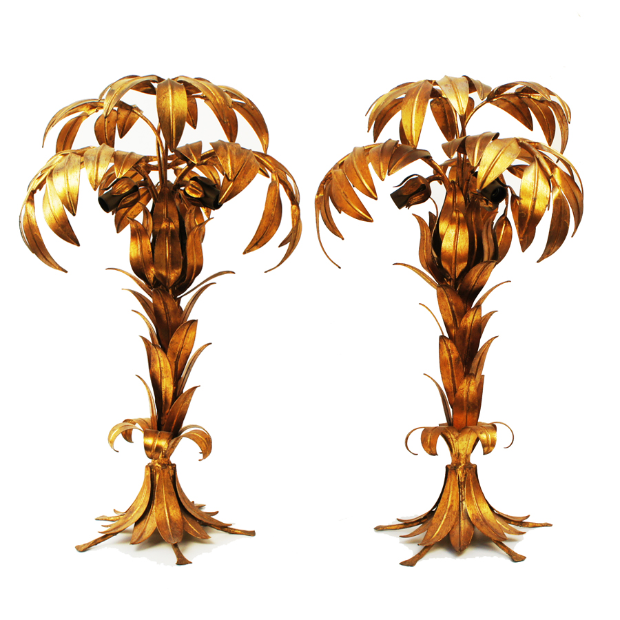 Palm Tables Lamps by Hans Kögl, 1970s, set of 2