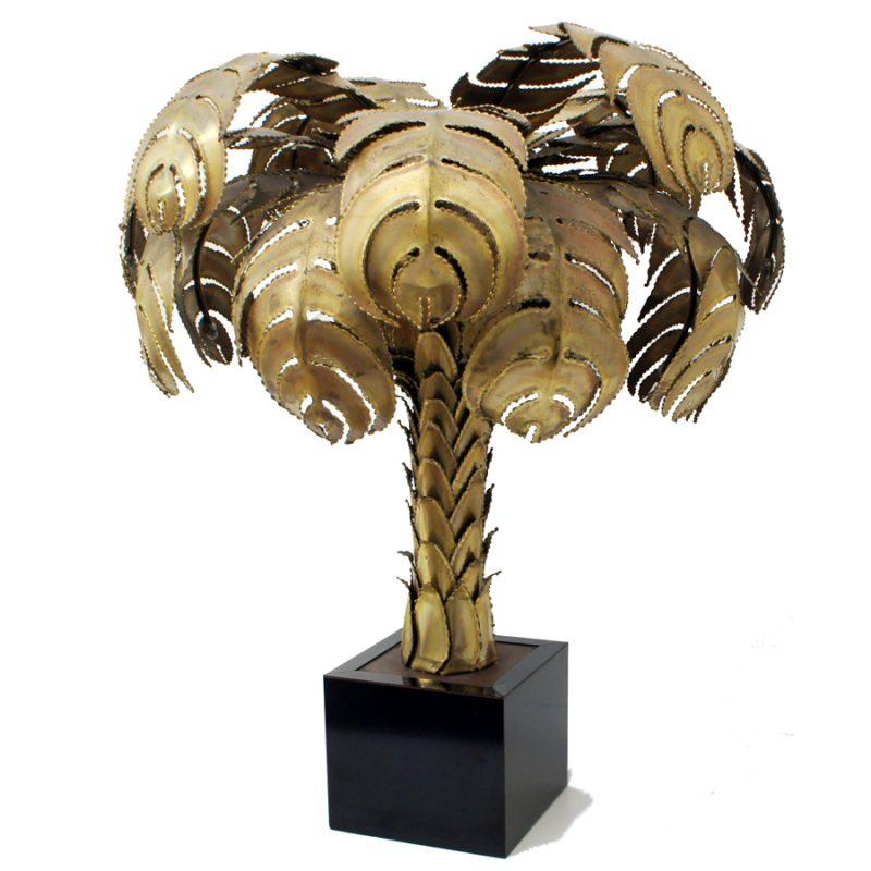Lámpara palmera dorada Maison Jansen