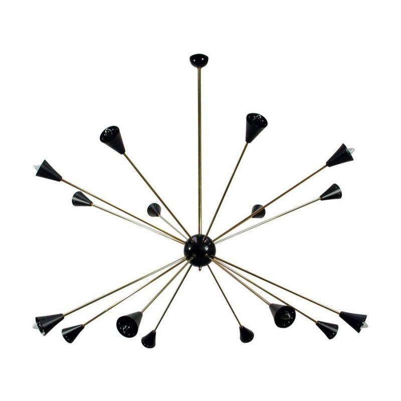 Lámpara sputnik estilo Stilnovo años 50s