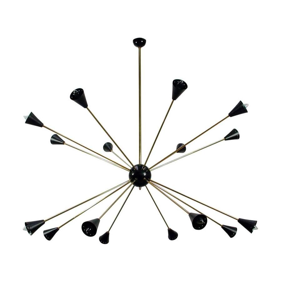 lámpara sputnik estilo stilnovo años 50s - nitelshop