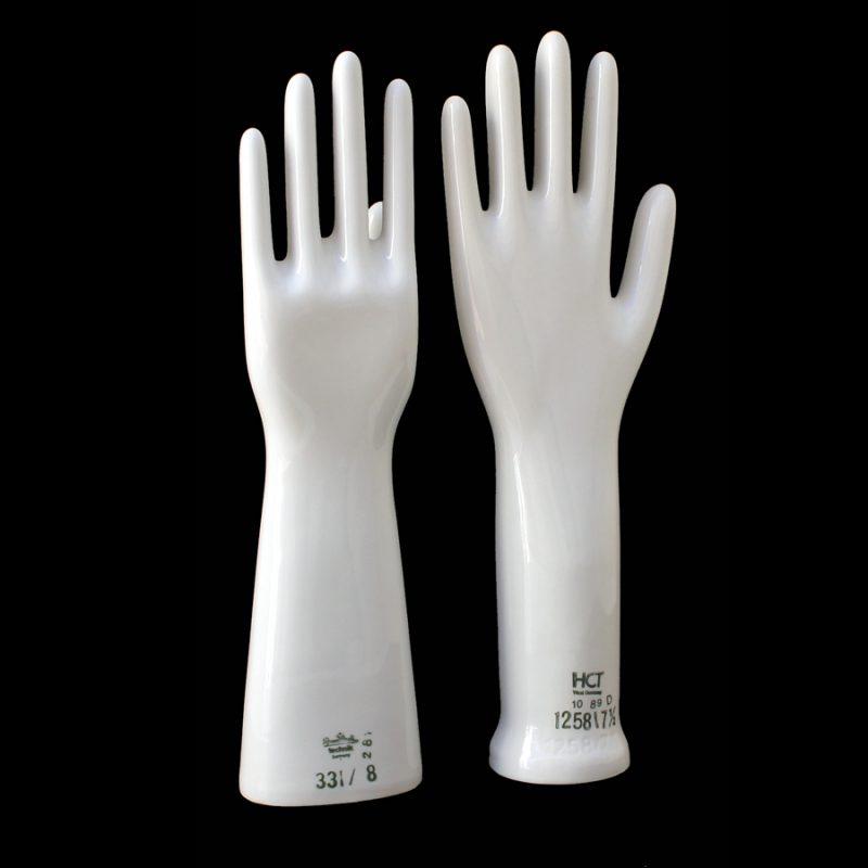 Moldes de guantes porcelana alemana