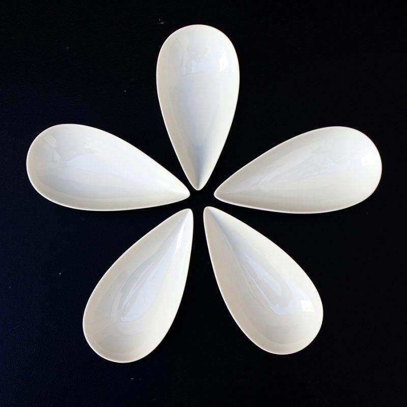 Pareja de centros en motivos florales Rosenthal
