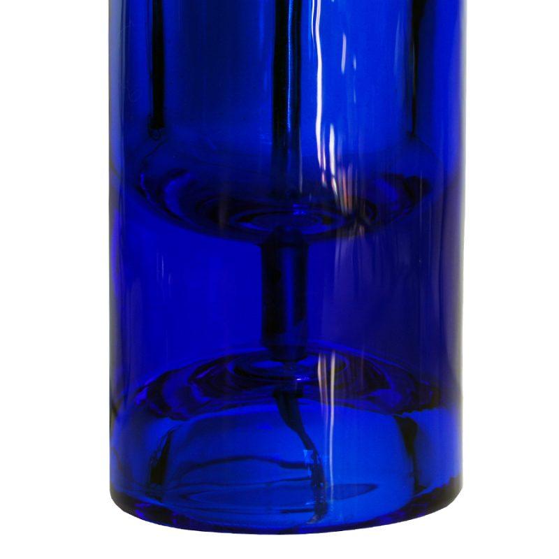 Pareja de lámparas de cristal azul Daum Francia