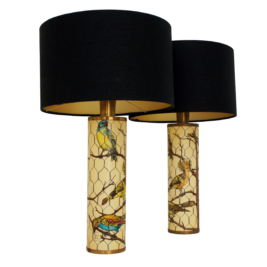 Birds Tables Lamps by Piero Fornasetti, 1950 set of 2