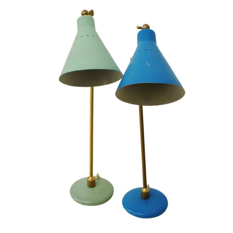 Pareja de lamparas de mesa italianas años 50s
