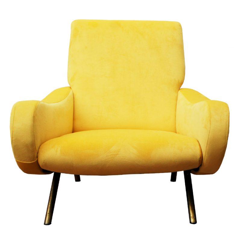 Pareja de sillones Lady Marco Zanuso amarillo