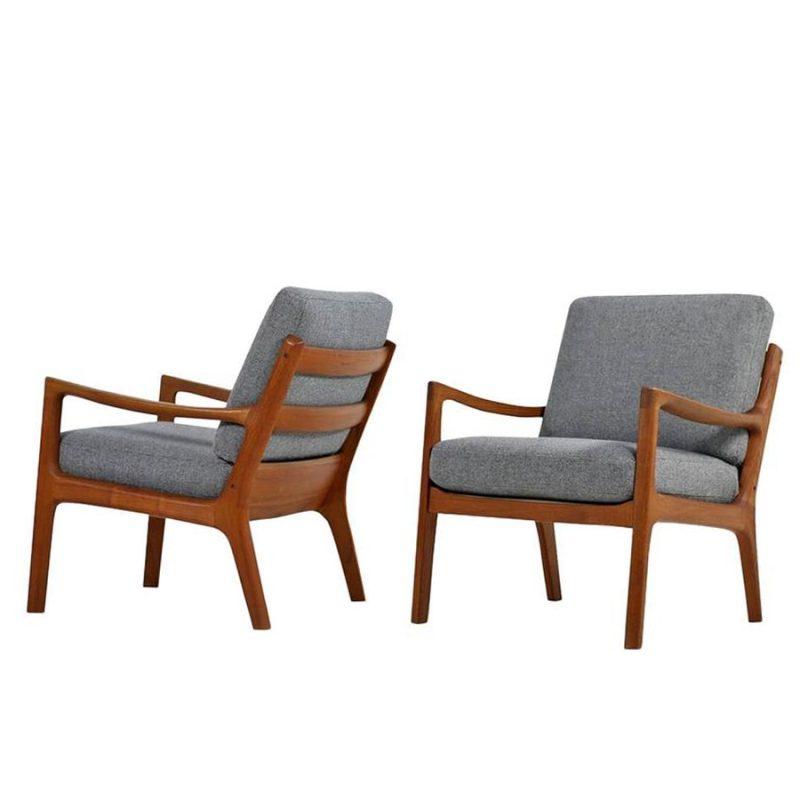 Pareja de sillones escandinavos fabricados por CADO