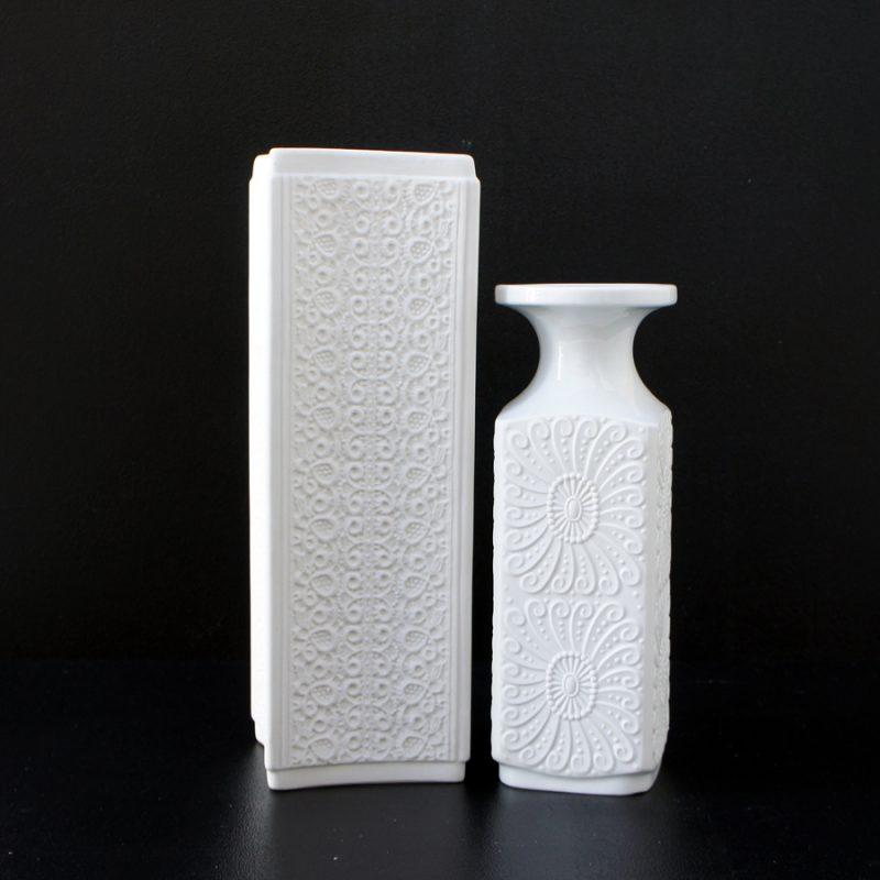Pareja porcelanas alemanas blancas bisquit