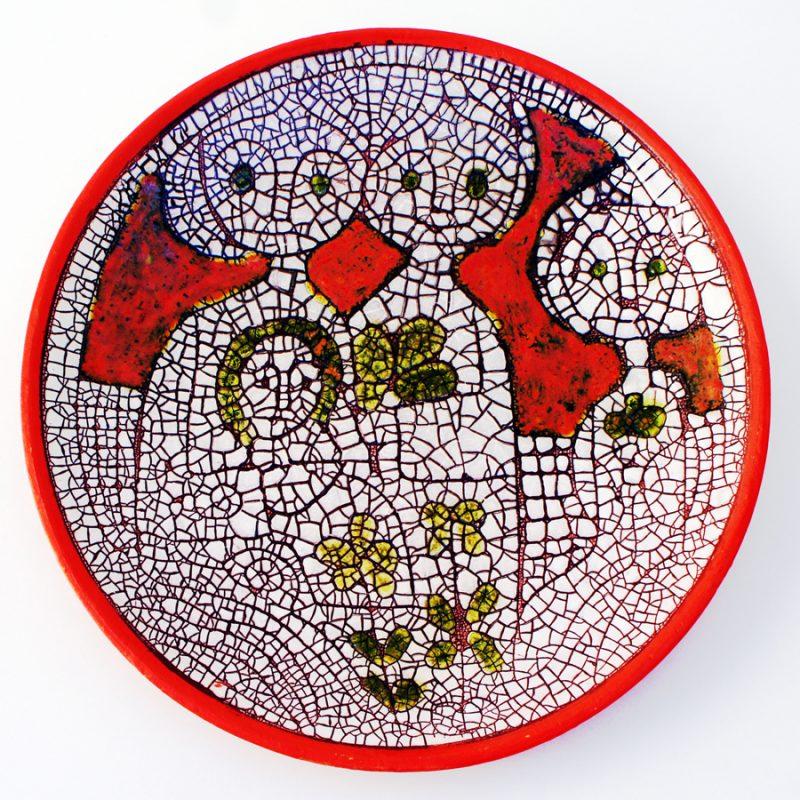 Plato esmalte craquelado danés
