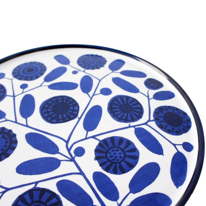 Plato porcelana azul Melitta