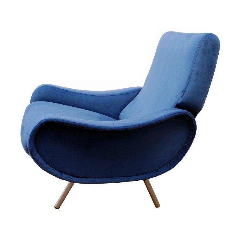 Sillones Lady Marco Zanuzo en terciopelo azul