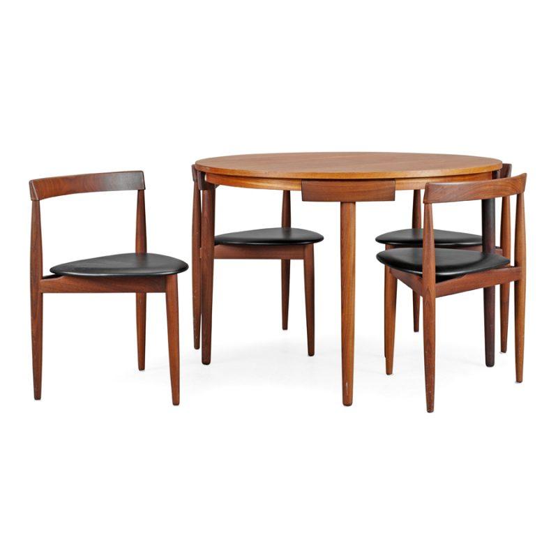 Conjunto de mesa y sillas Hans Olsen