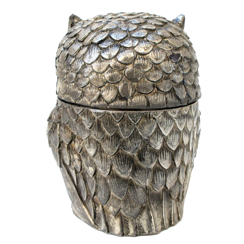 Cubitera búho plata diseño Mauro Manetti