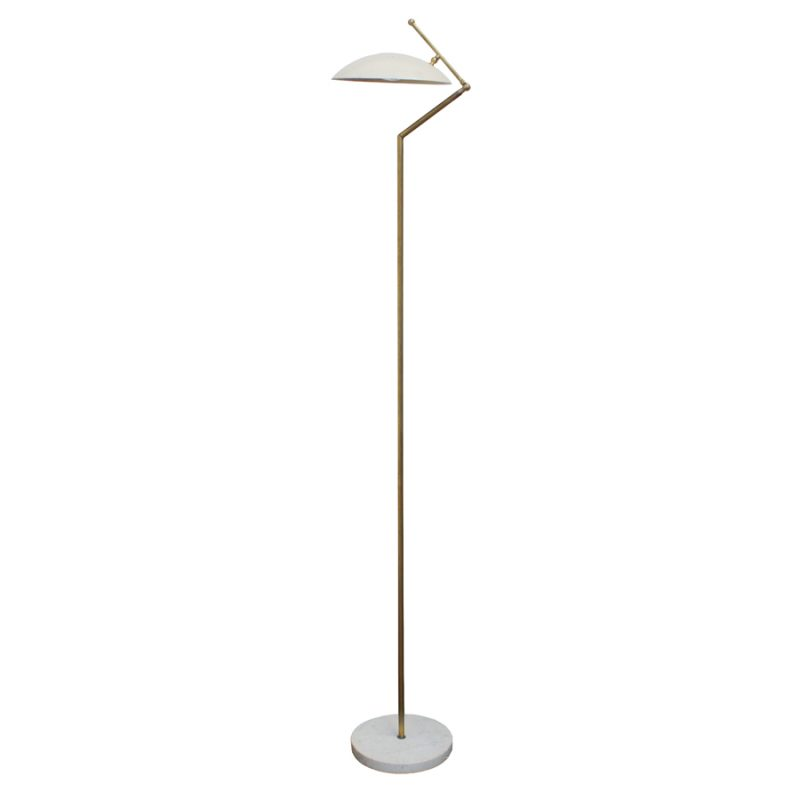 Brass and Marble Floor Lamp from Arteluce