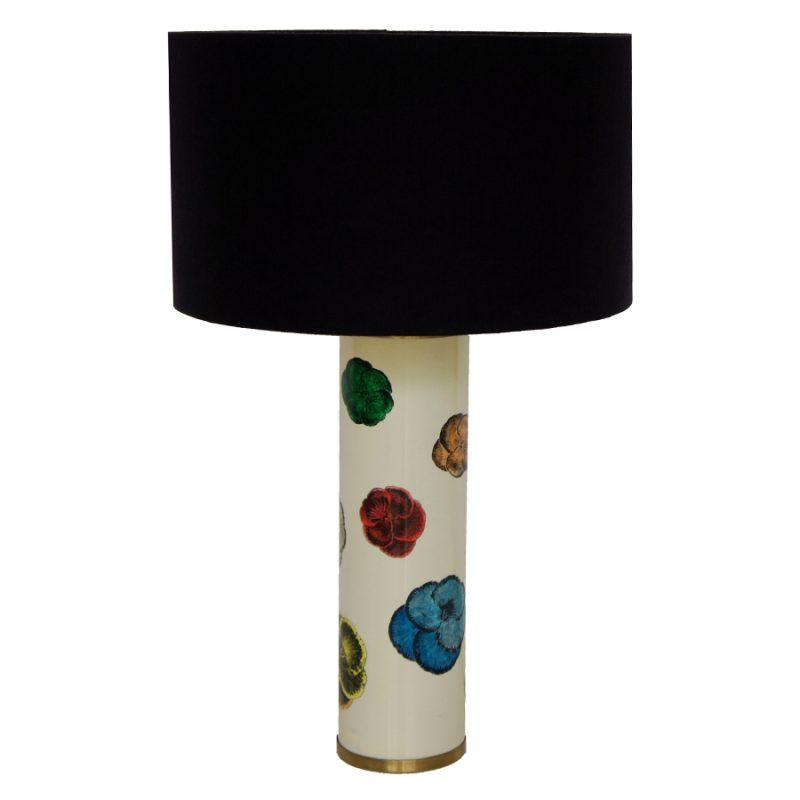 Lámpara Fornasetti de mesa diseño camelias