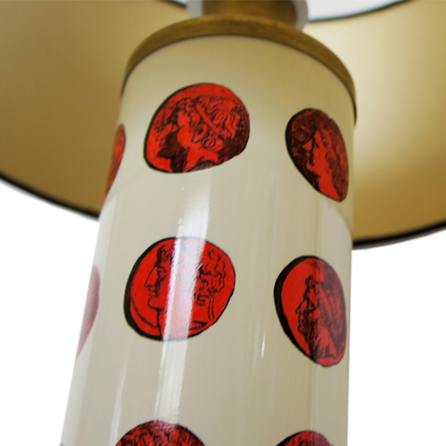 White Cammeo Table Lamp by Piero Fornasetti, 1950