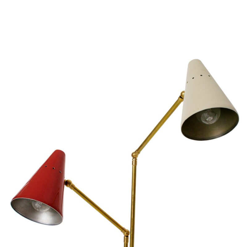 Lámpara Stilnovo de mesa doble años 50s