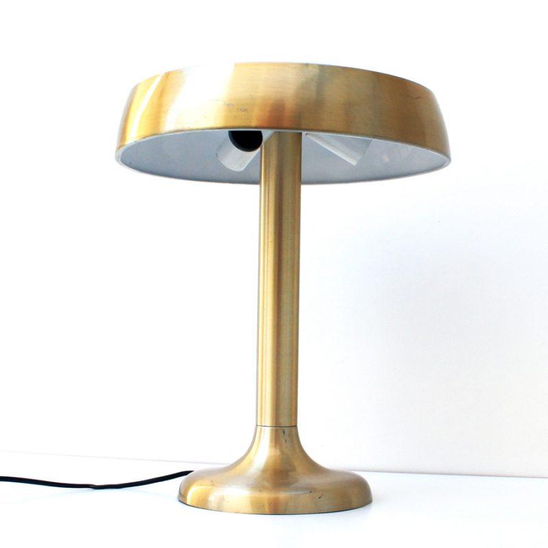 Lámpara francesa dorada de mesa art decó