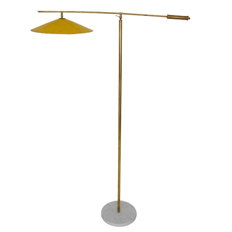 Brass Floor Lamp by Giuseppe Ostuni