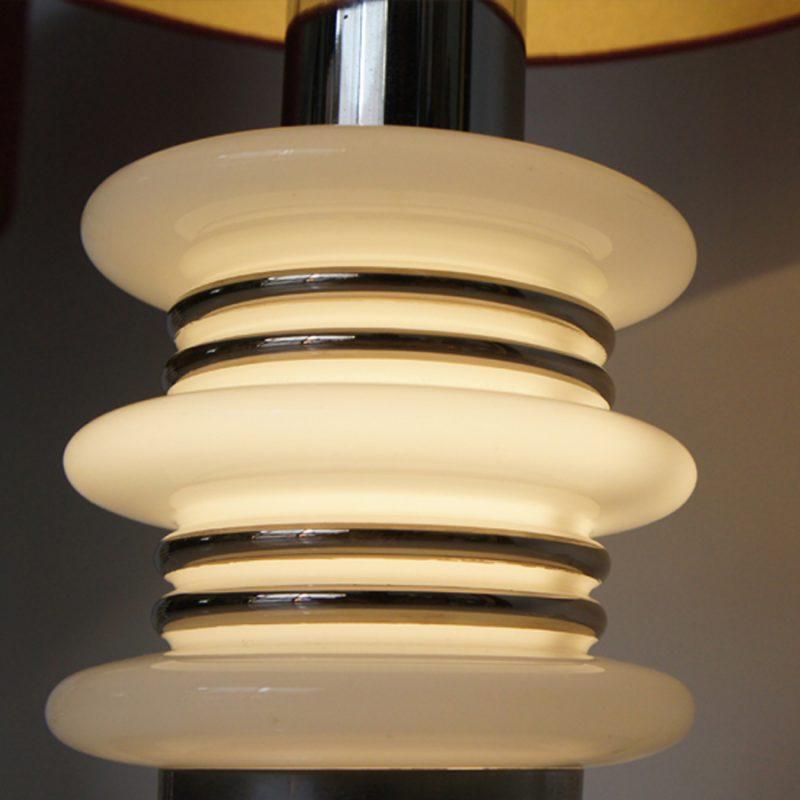 Pareja de lámparas francesas vintage de cristal