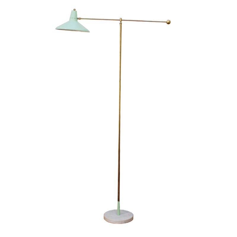 Lámpara Arredoluce verde menta años 50s