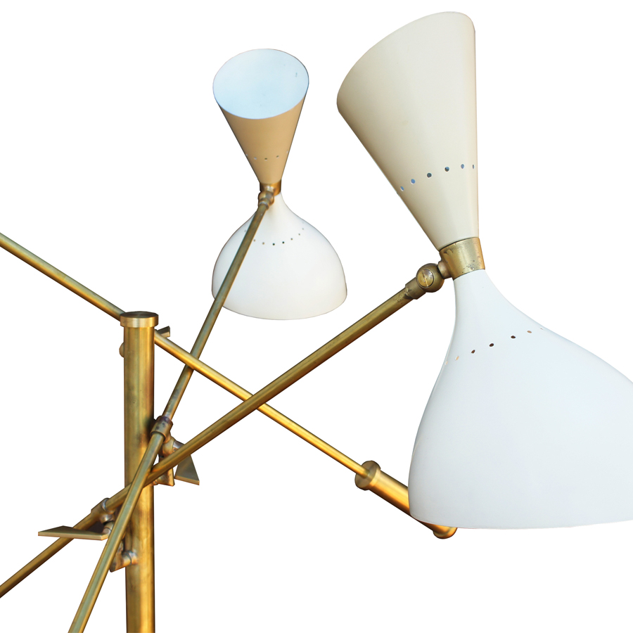 Italian Floor Lamp with Three Arms from Stilnovo, 1950s