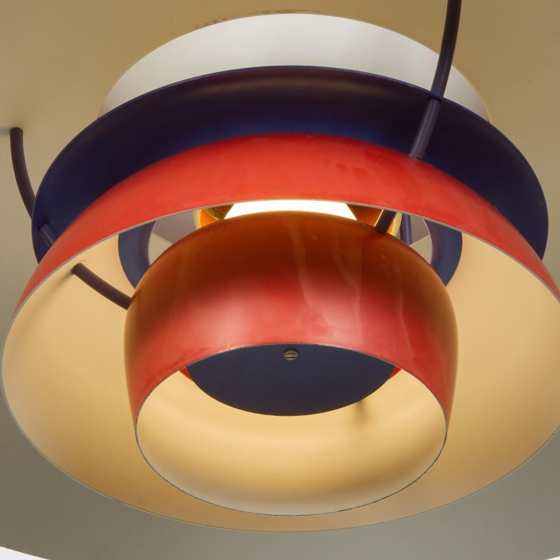 Lámpara PH5 rojo original Louis Poulsen