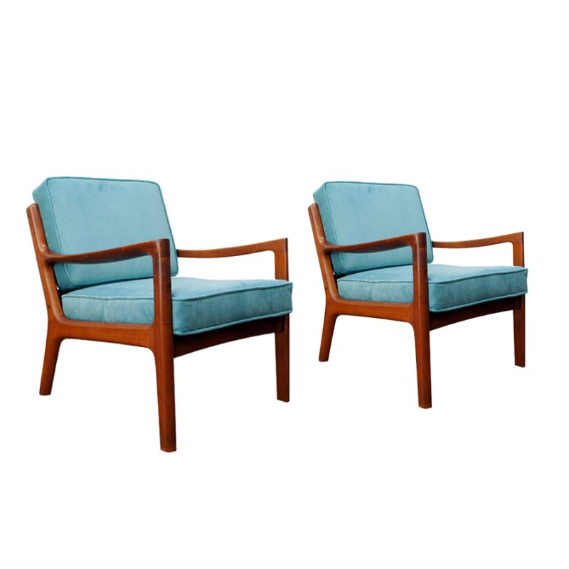 Mid-Century Danish 166 Senator Armchairs by Ole Wanscher for Cado