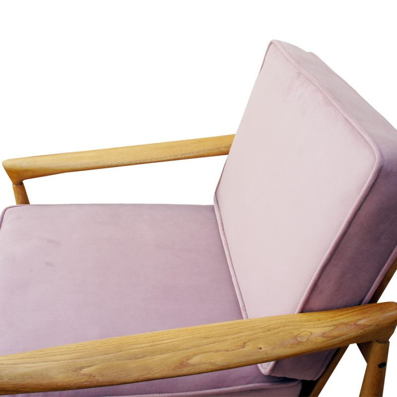 Sillones diseño nórdico de madera de teca